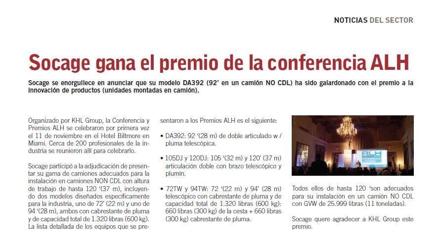 socage gana el premio de la conferencia alh 2 4