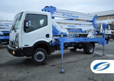 Camion 3500kg con piattaforma elevatrice ForSte 24DJ dettaglio Socage