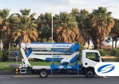 Camion da 3500kg con piattaforma elevatrice ForSte 24DJ Socage lift