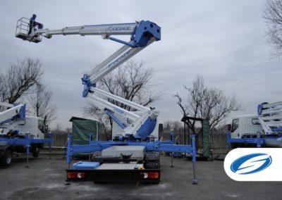 Camion da 3500kg con piattaforma elevatrice ForSte 24DJ braccio Socage