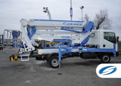 Carrello 3500kg con piattaforma elevatrice ForSte 24DJlateral Socage basket