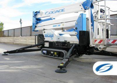 Piattaforma elevatrice cingolata Stabilizzatori ForSte spj315 Socage