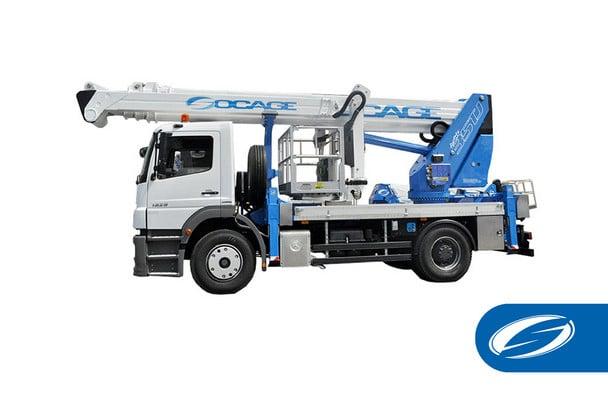 camion con braccio articolato lift basket jib ForSte 35TJ Socage 1