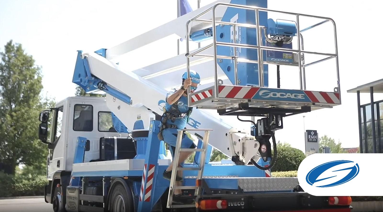 Camion con piattaforma aerea 28DA SPEED cestello
