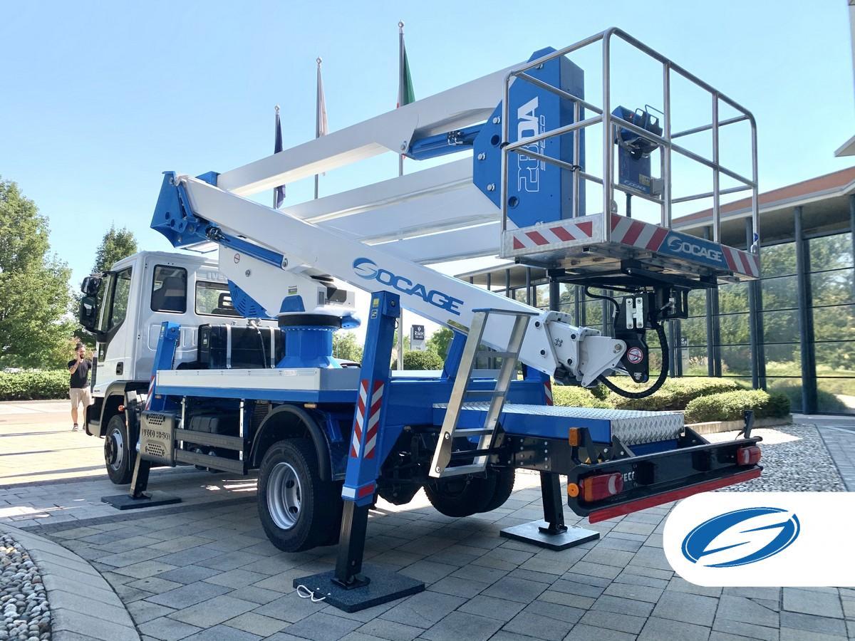 Camion con piattaforma aerea 28DA cestello