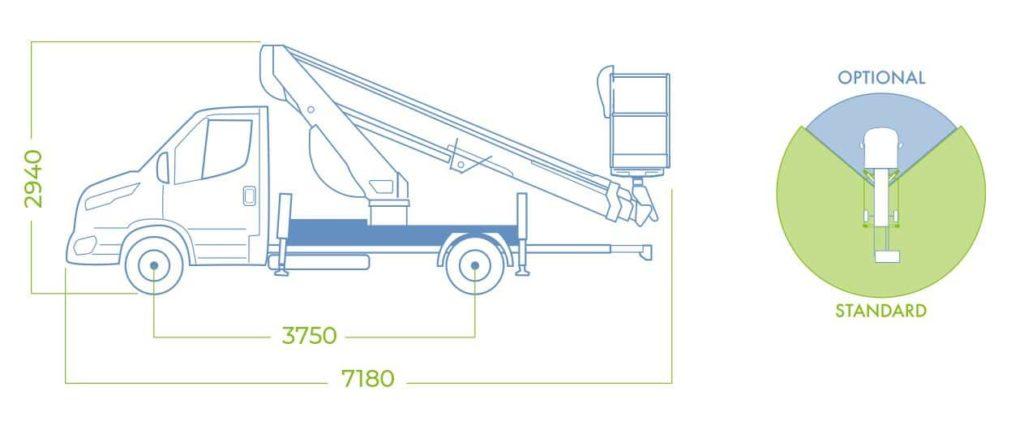 dimensioni piattaforma autocarrata18t