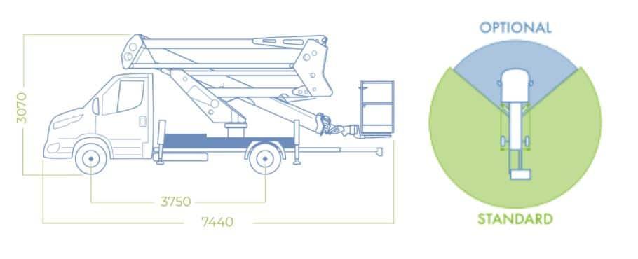 dimensioni camion con cestello 20D